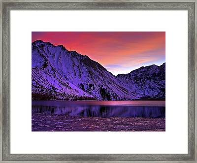 Convict Lake Sunset Framed Print by Scott McGuire