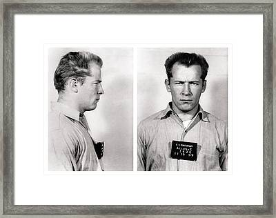 Convict No. 1428 - Whitey Bulger - Alcatraz 1959 Framed Print by Daniel Hagerman