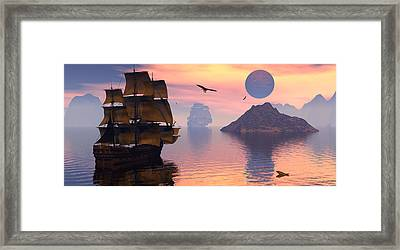 Convoy Framed Print by Claude McCoy