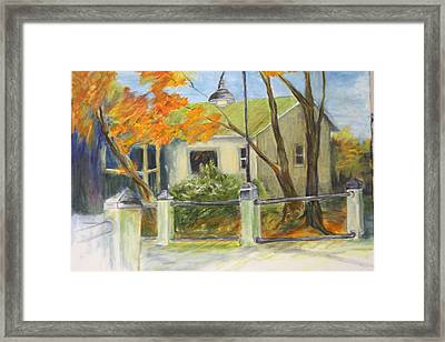 Conway Fish House Framed Print by Sandra Taylor-Hedges