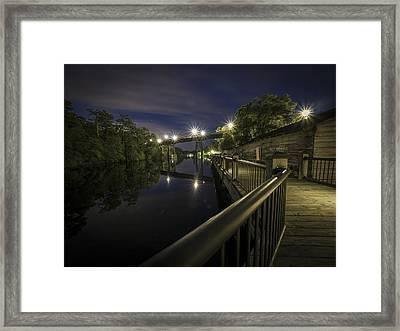 Conway Riverwalk Morning Framed Print