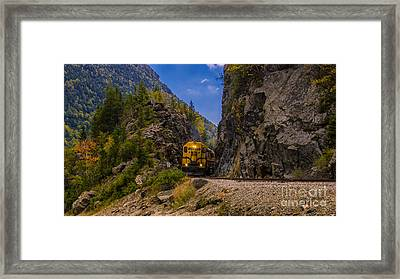 Conway Scenic Railroad Notch Train. Framed Print