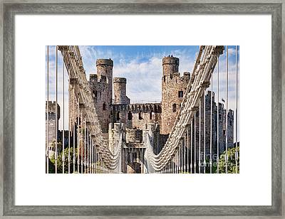 Conwy Castle Wales Framed Print by Colin and Linda McKie