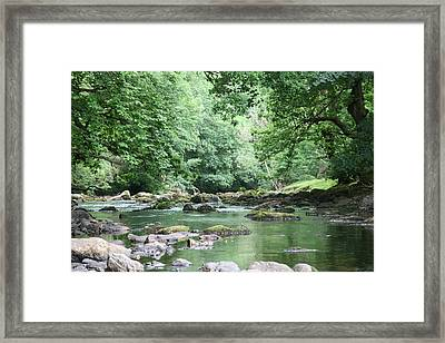 Conwy River Near Betws Y Coed.  Framed Print by Christopher Rowlands