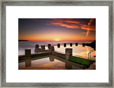 Coogee Beach At Early Morning,sydney Framed Print by Noval Nugraha Photography. All rights reserved.