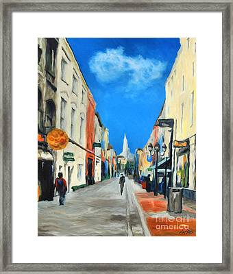 Cook Street   Cork Ireland Framed Print by Anne Marie ODriscoll