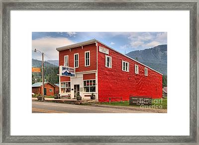 Cooke City Mt Store Framed Print by Adam Jewell
