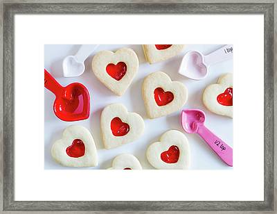 Framed Print featuring the photograph Cookie Baking Love by Teri Virbickis