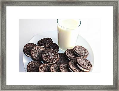 Cookies And Milk Framed Print by Barbara Griffin