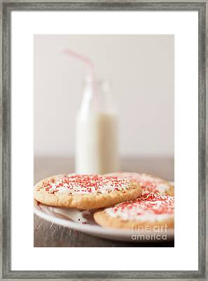 Cookies And Milk Framed Print by Taylor Martinsen