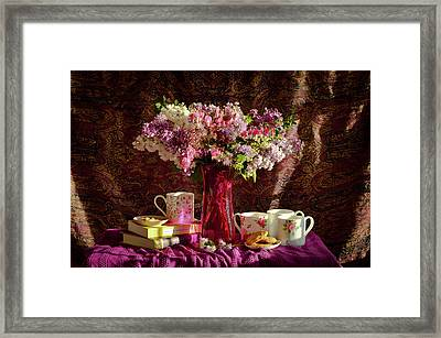 Cookies, Coffee And Comfort Framed Print by Wendy Blomseth