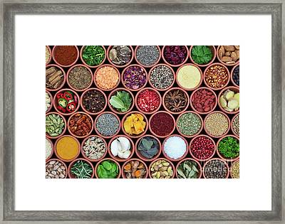 Framed Print featuring the photograph Cooking Ingredients by Tim Gainey