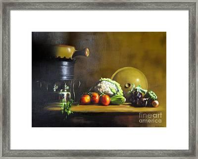 Cooking Framed Print