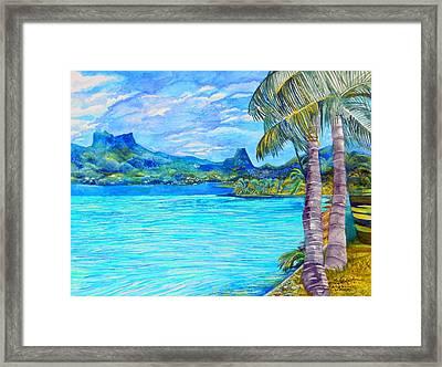 Cooks Bay Moorea Framed Print