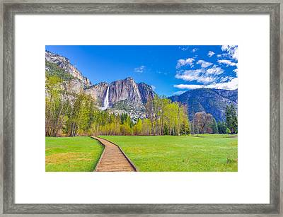 Framed Print featuring the photograph Cook's Meadow Yosemite National Park by Scott McGuire