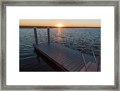 Cool Bay Day Framed Print by Kristopher Schoenleber