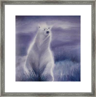 Framed Print featuring the painting Cool Bear by Allison Ashton