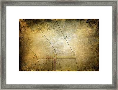 Cool Bird On A Hot Wire Framed Print by Jan Amiss Photography