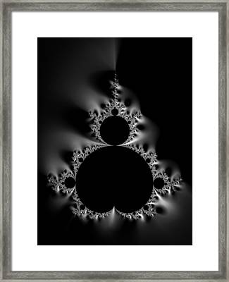 Cool Black And White Mandelbrot Set Framed Print by Matthias Hauser