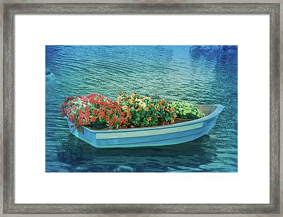 Framed Print featuring the photograph Cool Blue Boat Parade by Aimee L Maher Photography and Art Visit ALMGallerydotcom