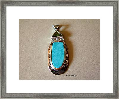 Cool Blue Waters Framed Print by Stan Mowatt