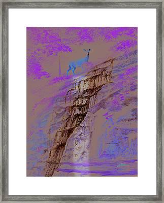 Cool Cascade Framed Print by Harold Shull