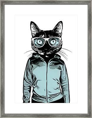 Cool Cat Framed Print by Nicklas Gustafsson