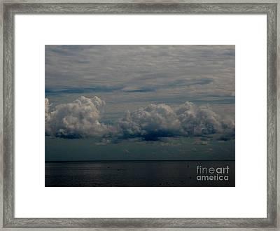 Cool Clouds Framed Print
