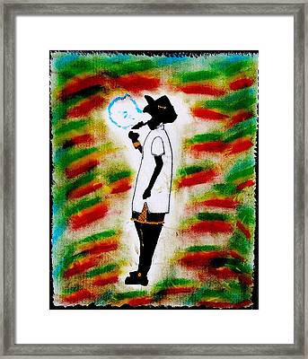 Cool Cool Collie Framed Print
