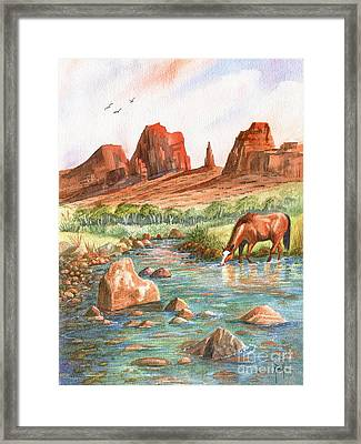 Cool, Cool Water Framed Print by Marilyn Smith