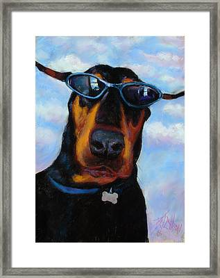 Cool Dob Framed Print by Billie Colson