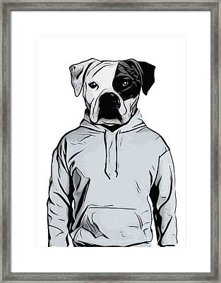 Cool Dog Framed Print by Nicklas Gustafsson