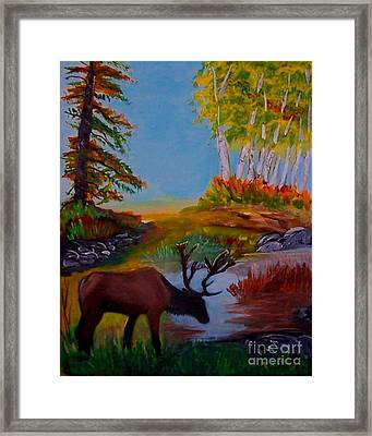 Framed Print featuring the painting Cool Drink by Leslie Allen