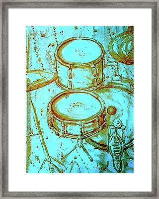 Cool Drums Framed Print