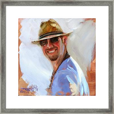 Cool Dude Framed Print by Laura Lee Zanghetti