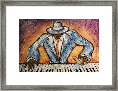 Framed Print featuring the painting Cool  by Emery Franklin