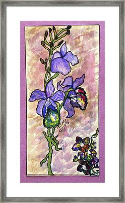 Cool Flower Study Framed Print by Tammera Malicki-Wong
