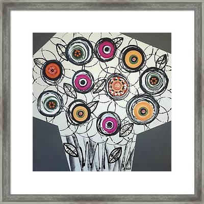 Cool Flowers Framed Print