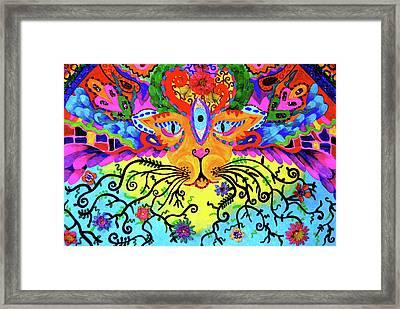 Cool Kitty Cat Framed Print by Marina Hackett