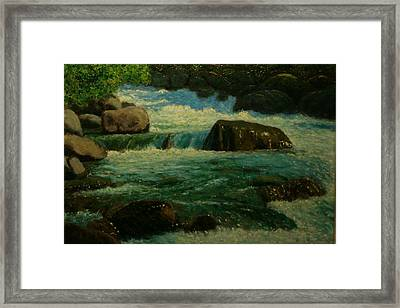 Cool Mountain Water Framed Print