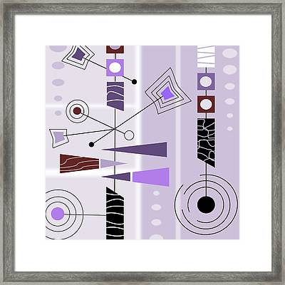 Cool New Purple Framed Print