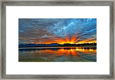 Framed Print featuring the photograph Cool Nightfall by Eric Dee