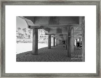 Framed Print featuring the photograph Cool Off In The Shade Of The Pier by Ana V Ramirez