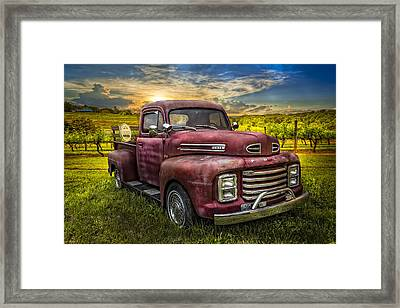 Cool Old Ford Framed Print by Debra and Dave Vanderlaan
