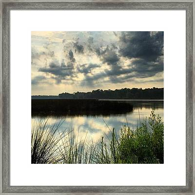 Cool Rays Coming Down This Morning At Framed Print