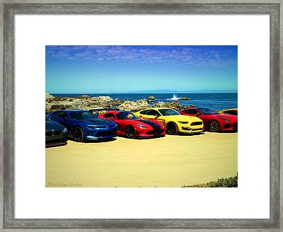 Cool Rides At Pacific Grove Framed Print by Joyce Dickens