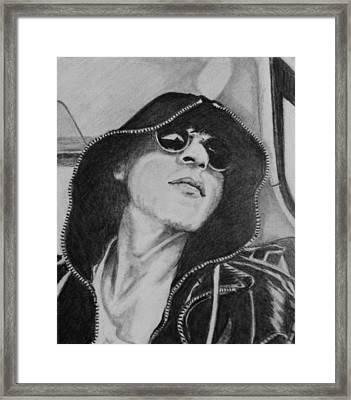 Cool Shah Rukh Khan In Hoodie And Shades Framed Print