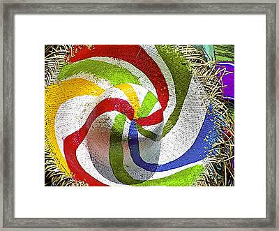 Cool Summer Hat Framed Print