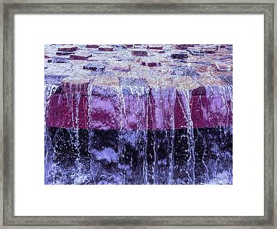 Cool Sunset Waterfall Abstract Framed Print