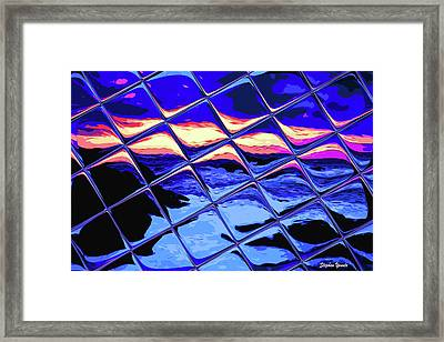Cool Tile Reflection Framed Print by Stephen Younts